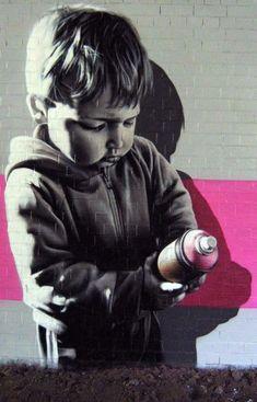 Graffiti Child 3d Street Art, Murals Street Art, Street Art Utopia, Urban Street Art, Best Street Art, Amazing Street Art, Street Art Graffiti, Street Artists, Urban Art
