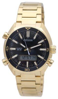 403463603c4d Men s Citizen Digital Analog Gold tone Watch JM5462-56E