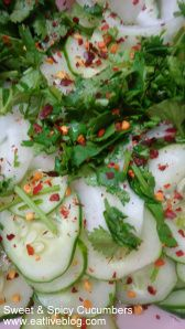 Sweet & Spicy Cucumbers