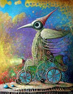 leszek kostuj art | Crazy Cyclist II by Leszek Kostuj