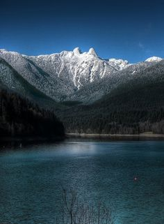 View from Capilano River Regional Park next to Cleveland Dam, North Vancouver