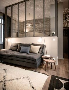 Ideas Diy Room Partition Ideas Couch For 2019 Home Interior, Interior Architecture, Interior Design, Style At Home, Mad About The House, Living Spaces, Living Room, Home And Deco, Home Fashion