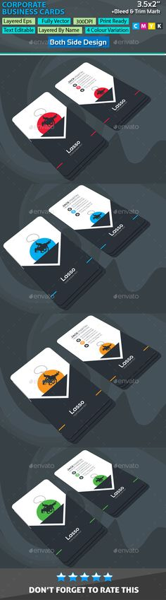 Lasso Corporate Business Cards - Corporate #Business #Cards Download here: https://graphicriver.net/item/lasso-corporate-business-cards/20092668?ref=alena994