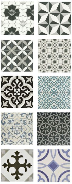 "cement-look-tile-home-depot (""porcelain and ceramic tiles that look like authentic encaustic cement tiles but for less money than you'd pay for the real thing"") ideen fliesen mozaik Cement Look Tile for Less Patterned Floor Tiles, Tiles For Less, Floor Texture, Bathroom Floor Tiles, Ceramic Floor, Cement Tile, Flooring, Kitchen Tiles, Bathroom Flooring"