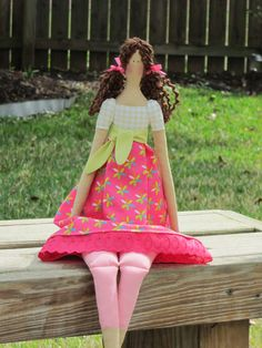 Adorable fabric doll