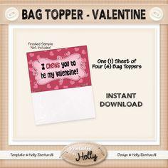 Bag Topper - Valentine - Instant Download Printable - Beginner Project - HEBER_664 by HollysHandmadeGifts on Etsy
