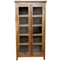 british colonial glass door bookcase