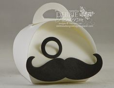 Debbie's Designs: Mr. Mustache Curvy Keepsake Box!