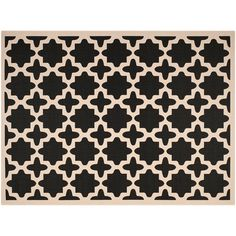 Safavieh Courtyard Fret Indoor Outdoor Rug, Black