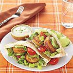 Crunchy Falafel Pitas Recipe | MyRecipes.com