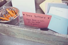 love letters to the bride and groom