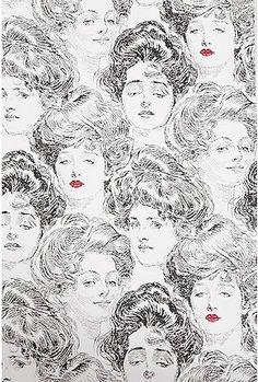 gibson girl wallpaper. cheah