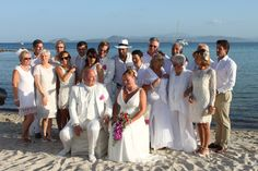 Foto di gruppo, matrimonio all'Hotel Gabbiano Azzurro