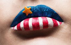 Star-Spangled Makeup Looks to Rock This Fourth of July #4thofjuly Happy 4 Of July, Fourth Of July, Painted Earth, 4th Of July Makeup, Blue Lips, 4th Of July Outfits, July Crafts, Star Spangled, Blue Makeup