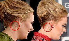 The singer - who ruled the roost with five wins on America's biggest night in music - had her hair swept up in a chic chignon, similar to the one she sported in 2013, when she first debuted the design.