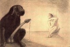 Lubricity by Alfred Kubin Alfred Kubin, Bizarre Art, Dreams And Nightmares, Art Impressions, Conceptual Art, Gravure, Figure Painting, Erotic Art, Art Techniques
