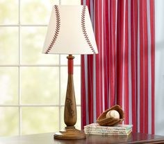 Shop Baseball Lamp from Pottery Barn Kids. Find expertly crafted kids and baby furniture, decor and accessories, including a variety of Baseball Lamp. Baseball Lamp, Baseball Nursery, Baseball Stuff, Baseball Crafts, Softball Stuff, Baseball Party, Room Themes, Nursery Themes, Nursery Ideas