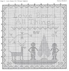 "Liberty Primitives & Needlework ""Love Bears All Things"" Cross Stitch"