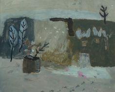 David Pearce Paintings Footprints In The Snow Painting