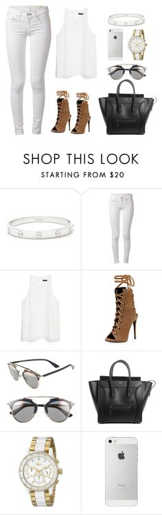 """""""white inspiration"""" by pimargarida ❤ liked on Polyvore featuring Cartier, rag & bone, MANGO, Giuseppe Zanotti, Christian Dior and Lacoste"""