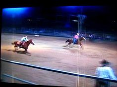5 Barrel race.. This looks fun! I think Baylee would get confused with all the barrels...