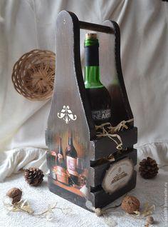 """Купить Короб для вина """" Винный погребок"""" - коричневый, вино, винный короб, винный ящик"""
