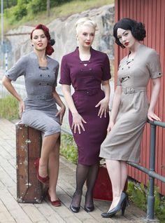 Blommig Retro klänning 50-tal 'Rose Deluxe' Fyndiq.se ...