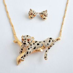Leopard Jewelry Set Party Jewelry Gold Silver