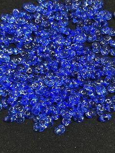 10g Czech SuperDuo Twin Beads Transparent Sapphire