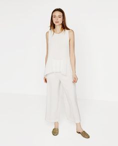 Image 1 of ASYMMETRIC PLEATED TOP from Zara