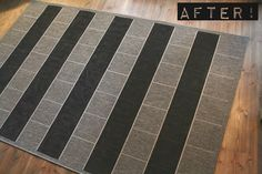 DIY painting a rug with wallpaint