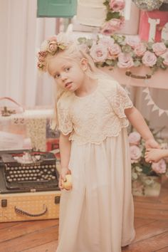 A great bridesmaid or christening handmade luxury girls dress from Castlebaby in Spain