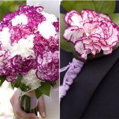 Beautiful set of wedding arrangements with carnations!
