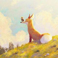 Prince of Sunflower scene 2  Happy new year and Happy holidays everyone 🎉🎆  #boy #prince #fox #sunflower #happynewyear #conceptart #adventure #characterdesign #illustration #art