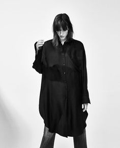 Image 2 of OVERSIZED SHIRT DRESS from Zara + a belt