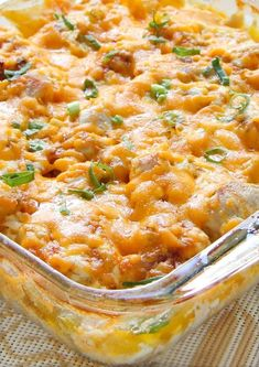 loaded baked chicken and potato casserole