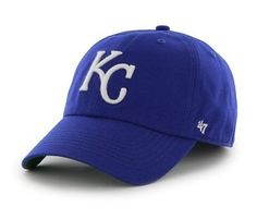the best attitude 73bc2 475f6 Kansas City Royals 47 Brand Blue White The Franchise Fitted Hat Cap Kansas  City Royals Hat