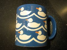 Blue Waechtersbach White Duck Mug , West Germany