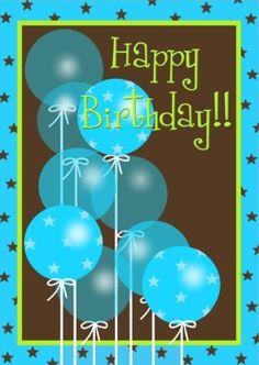 Happy Birthday - balloons - man
