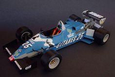 F1 Paper Model - 1983 French GP Ligier JS21 Paper Car Free Template Download