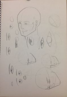 More attempts at faces on a 3/4 angle. The eye placement and foreshortening really get me when trying to draw faces on an angle.