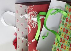 How to make gift bags out of scrap paper. I love this idea. Makes gift giving so much more personal.