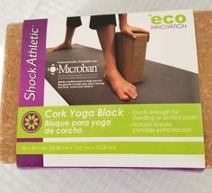 Eco Innovation Cork Yoga Block  Protected with Microban Shock Athketic New #EcoInnovation