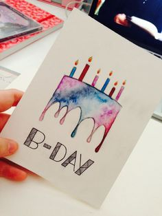 Diy birthday card ideas diy funny fordad homemade forfriends grukarten und glckwunschkarten 16 gifts for your boyfriend if he behaved well this year behaved boyfriend gifts year Watercolor Birthday Cards, Birthday Card Drawing, Cool Birthday Cards, Bday Cards, Watercolor Cards, 20 Birthday, Fabulous Birthday, Card Ideas Birthday, Diy Birthday Gift