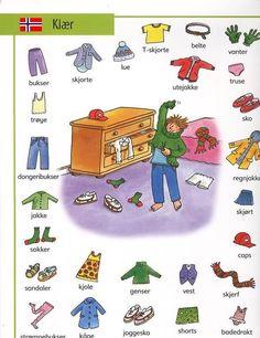 Norwegian words for items of clothing. Danish Language, Swedish Language, Birthday Canvas, Norwegian Words, Learn Swedish, Norway Language, Norway Travel, Thinking Day, Learn English