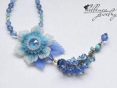Создаем колье с цветком «Summer Blue» - Ярмарка Мастеров - ручная работа, handmade