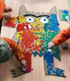 Discover recipes, home ideas, style inspiration and other ideas to try. Emotions Preschool, Preschool Colors, Preschool Crafts, Diy For Kids, Crafts For Kids, Arts And Crafts, Paper Crafts, Monster Activities, Preschool Activities