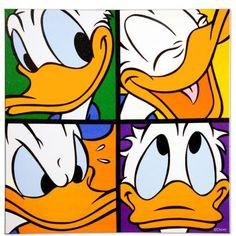 #DISNEY #Canvas 4 Donald Gesichter 40x40cm #Butlers
