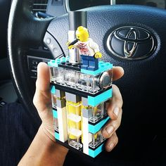 Lego #vaping! Is this the most retro #vapemod out there? Learn about the best e-juices on the market at https://www.blacknote.com/