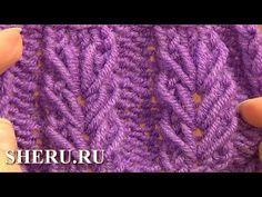 TEjidos - Knitted 2 - Wheat Ear Loop Stitch Pattern Tutorial 6 Free Knitting Stitch Patterns F. Knitting Stiches, Knitting Videos, Crochet Videos, Lace Knitting, Knitting Patterns Free, Knit Patterns, Crochet Stitches, Stitch Patterns, Knit Crochet